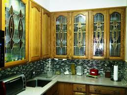 decorative glass cabinet doors hand crafted elegant stained glass custom kitchen cabinet inserts