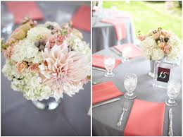 navy and coral wedding centerpieces sweet centerpieces