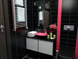 red and black bathroom decorating ideas patterned valance brown