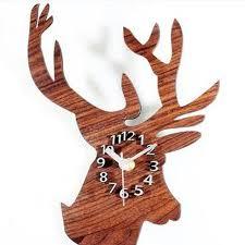 acrylic modern diy wall clock reindeer decorations