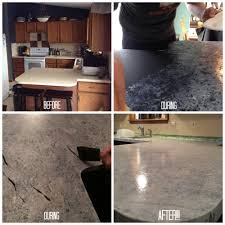 Paint Kitchen Countertops by Giani Granite Countertop Paint Process Before And After Using The