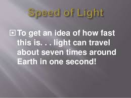 How Fast Is Light Light Years Notes