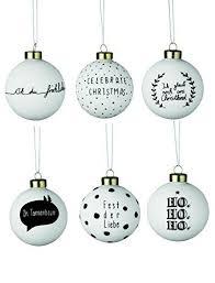 weihnachtszauberkugeln sortiment weiß schwarz 18 stück