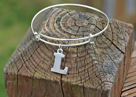 monogram charm monogram charm bracelet with impressart letter charms latta