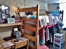 dorm room at lehigh bed lofts make amazing closet space home