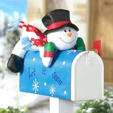 outdoor snowman decorations outdoor decorations mailbox