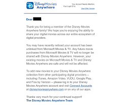 disney movies anywhere drm system severs ties with microsoft