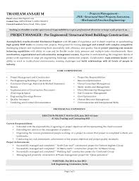 Core Competencies Project Manager Resume Sample Cover Letter For Graduate Management Trainee Position Le