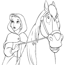 100 ideas princess belle coloring pages printable