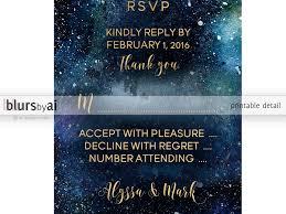 Invitations And Rsvp Cards Custom Printable Wedding Invitation And Rsvp Card Sky Nebula
