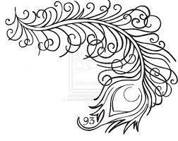 simple peacock tattoo designs