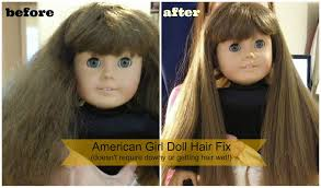 how to fix american doll hair a tutorial with before after
