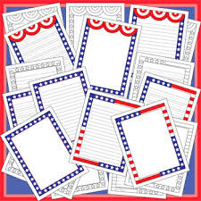 themed paper writing paper patriotic themed paper with 3 different designs tpt