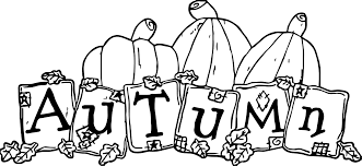 autumn text pumpkin coloring wecoloringpage