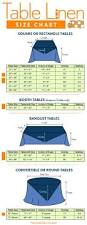 table linen size chart square rectangle circle and banquet