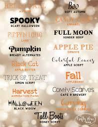 free fall u0026 halloween fonts u2022 the crafty mom design