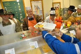 file u s deputy defense bob work serves sliced turkey