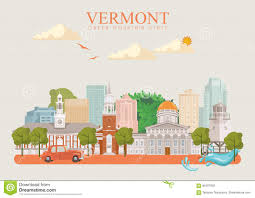 Vermont travel city images Vermont vector american poster usa travel illustration united jpg