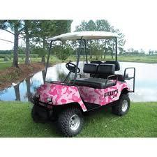 pink camo jeep body wrap kits for club car e z go and yamaha golf carts