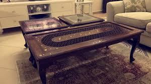 handmade wooden coffee tables set antique qatar living