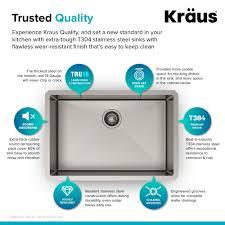 kraus 28 inch undermount sink stainless steel kitchen sink kraususa com
