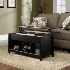 coffee tables with pull up table top amazon com sauder edge water lift top coffee table estate black
