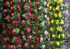 plastic flowers 2017 home decoration artificial roses flower vine rattan