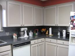 simple kitchen ideas with 2 pressed metal tin tile backsplash