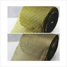 mesh ribbon table decorations rhinestone mesh ribbon gold diamante wedding table runners wrap in