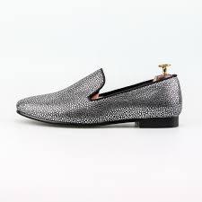 slip on dress shoes silver pearl men wedding shoes classic fashion