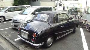 nissan black car old spotted a mysterious black nissan figaro youtube