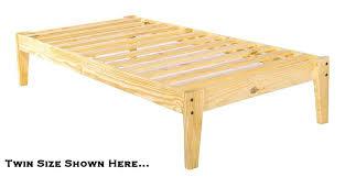 Wood Bed Platform Wood Bed Frame Selv Me