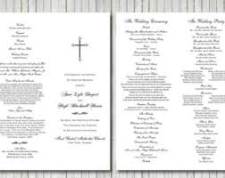 wedding church programs cross church program etsy