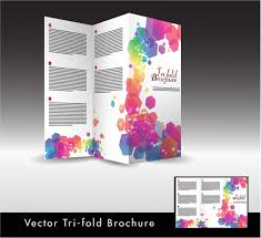 tri fold brochure ai template trifold brochure design with colorful hexagon illustration free