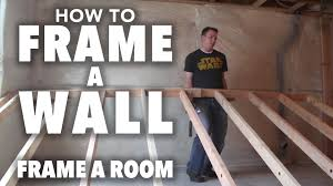how to frame part 1 framing a wall youtube