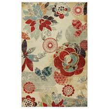 Coral Reef Area Rug Mohawk Home Geo Floral Pattern Multi 5 Ft X 8 Ft Area Rug 491185