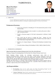 Merchandiser Job Description For Resume by Resume Nadeem