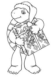 franklin christmas present coloring animal pages