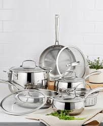 Stainless Steel Kitchen Set by Belgique Stainless Steel 11 Pc Cookware Set Created For Macy U0027s