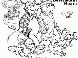 berenstain bears coloring pages brother and sisters coloring book