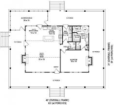 one level house plans with porch open floor plans residence design