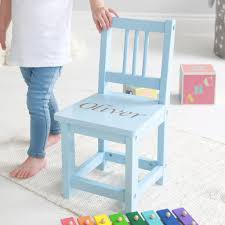 personalised blue wooden children s chair
