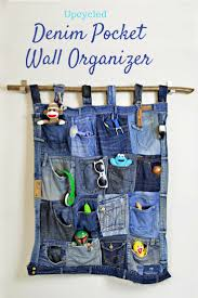 Wall Organizer For Office Tutorial For A Great Denim Pocket Organiser Pillar Box Blue