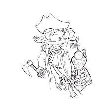 coloriage squelette pirate a imprimer gratuit
