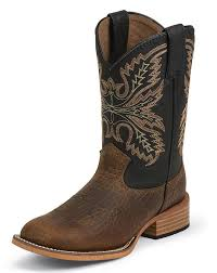 s justin boots on sale justin children s square toe boots black coyote