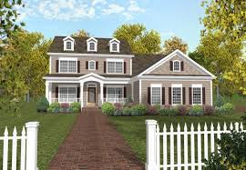two house plans with front porch 4 bedroom 3 bath colonial house plan alp 024j allplans com
