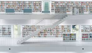 library stuttgart germany trilux