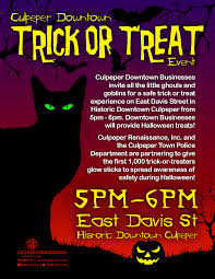 culpeper tourism events culpeper downtown trick or treat