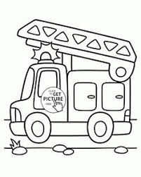 small fire truck coloring toddlers transportation