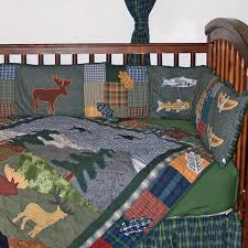 Northwoods Crib Bedding Patch Magic Northwoods Walk 6 Crib Bedding Set